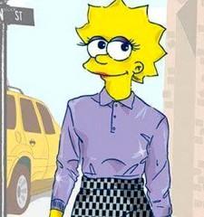 Lisa Simpson Sfila a New York Vestita da Marc Jacobs