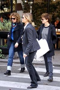 Valeria Golino, Isabella Ferrari e Alba Rohrwacher Rohrwacher pranzo fra vip a Roma con Michele Placido